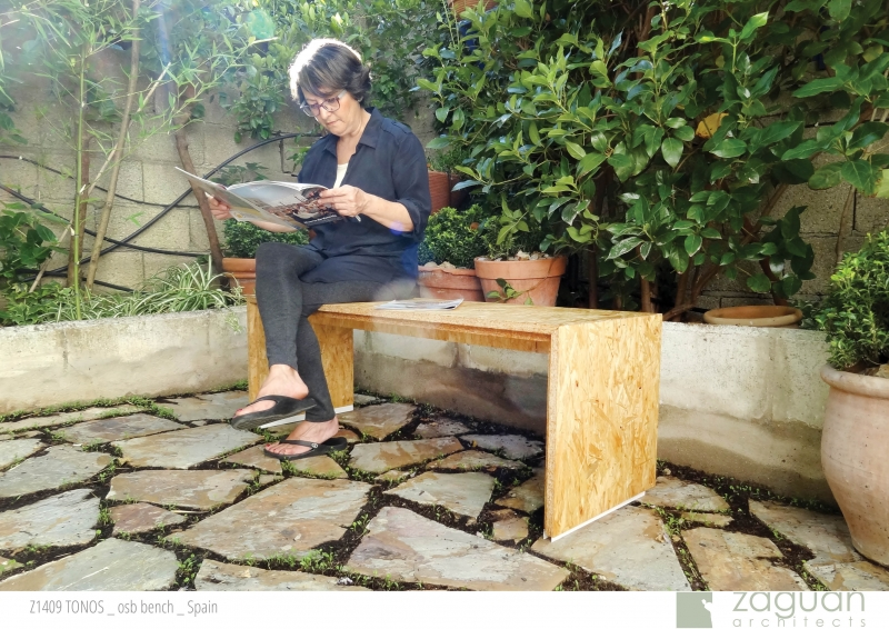zaguanarchitects furniture design osb bench Z1409 TONOS 002