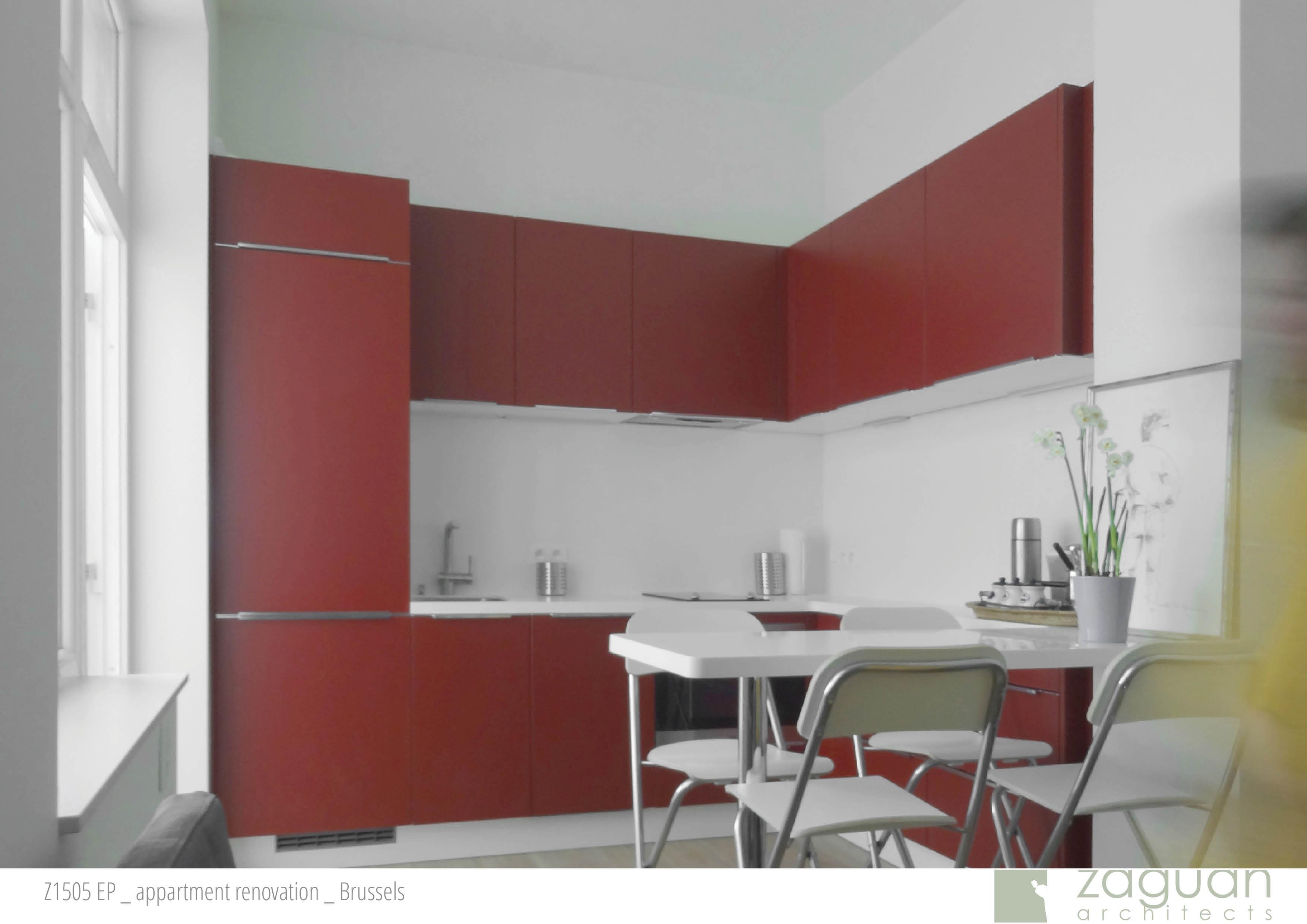 zaguanarchitects appartment renovation brussels Z1505 001