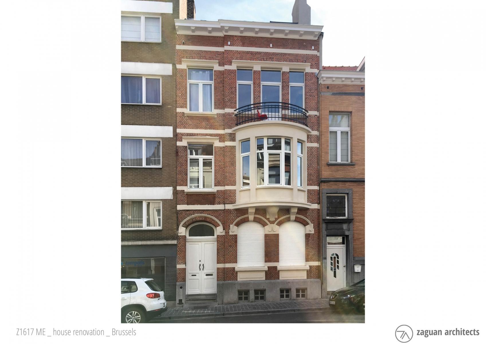 zaguanarchitects house renovation brussels Z1617 001