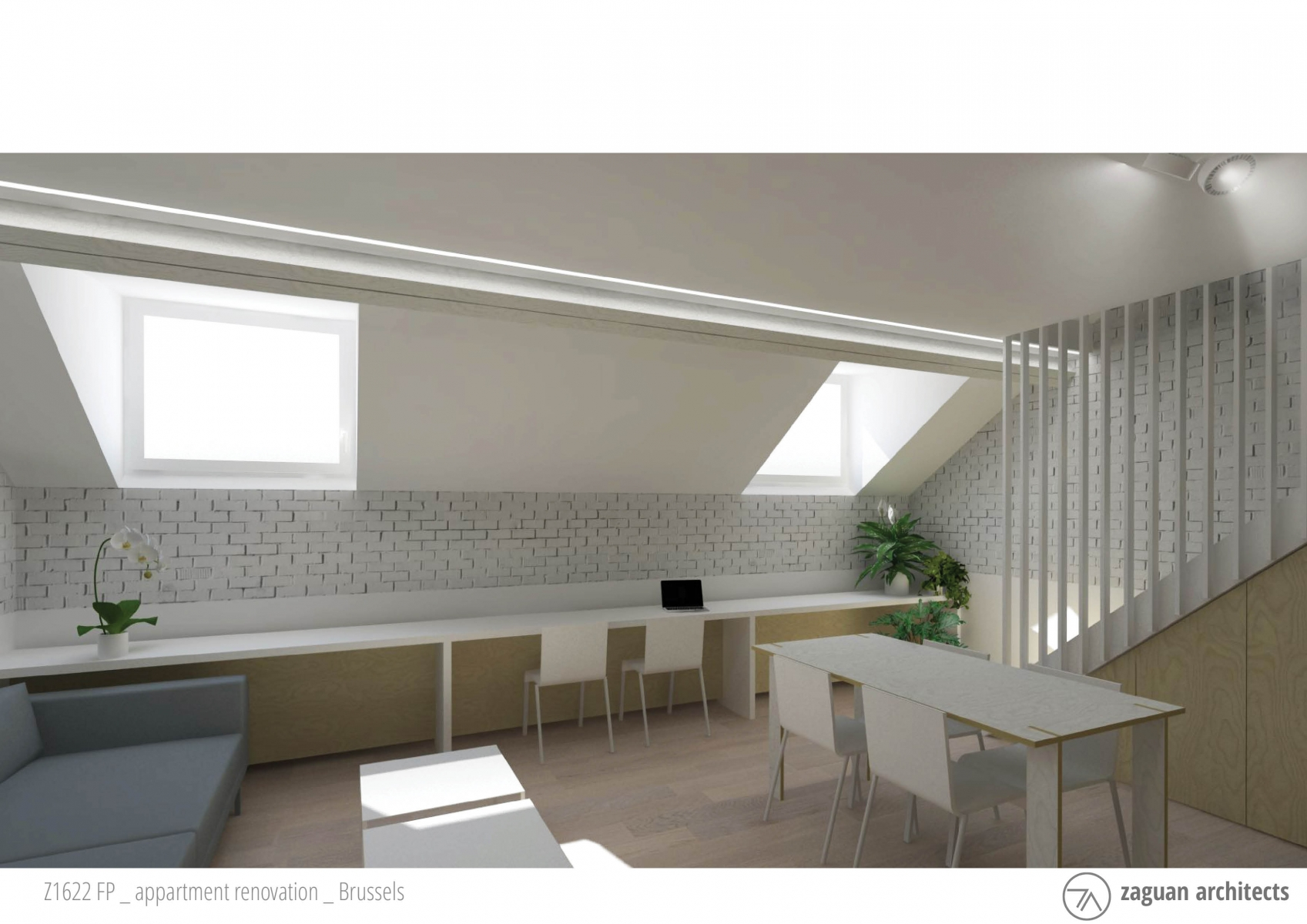 zaguanarchitects appartment renovation brussels Z1622 001b