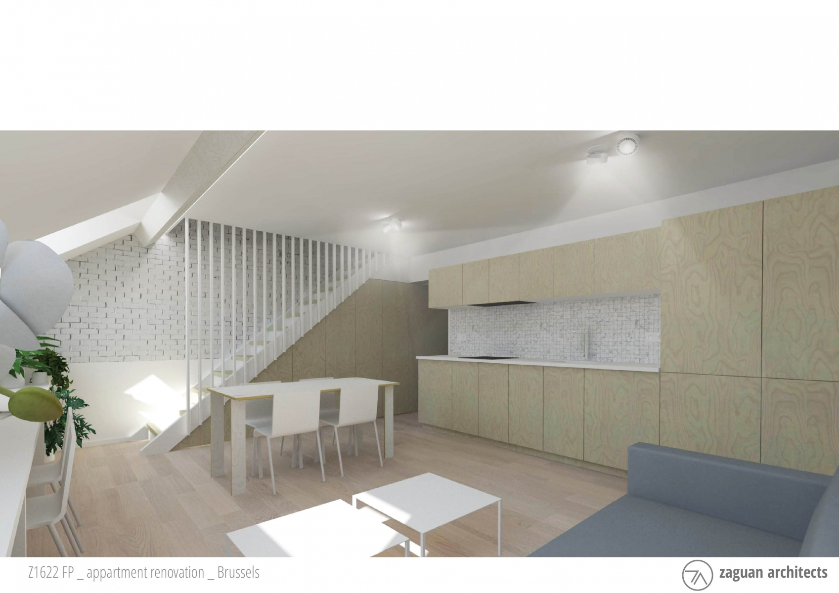 zaguanarchitects appartment renovation brussels Z1622 002b