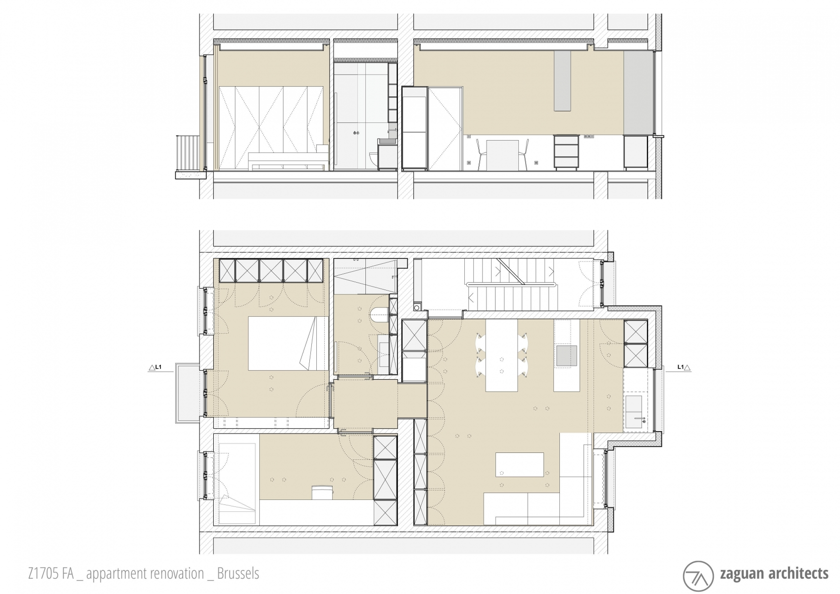 zaguanarchitects appartment renovation brussels Z1705 004