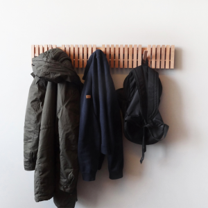 iZ SS1510 zaguanarchitects wooden wall hanger coat rack MARIMBA